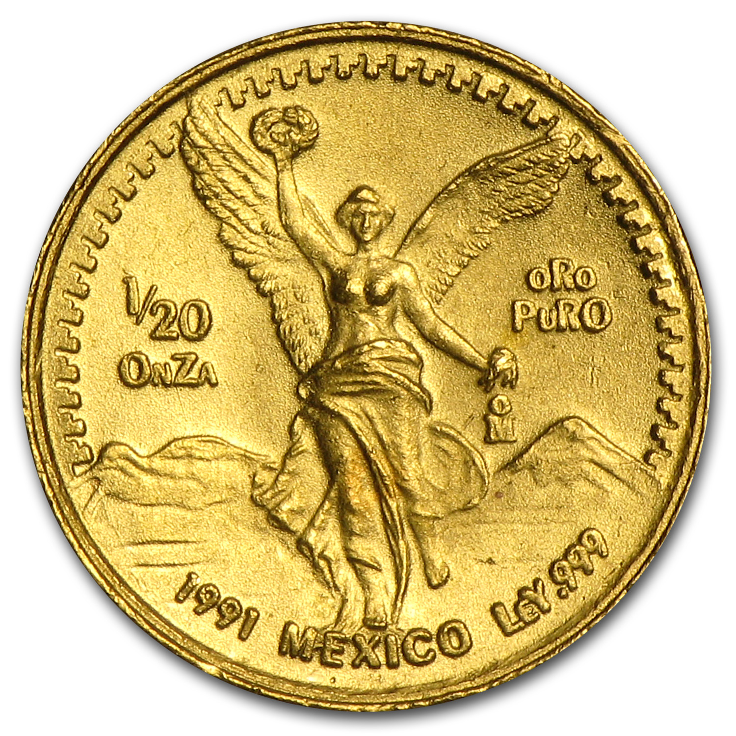 1991 Mexico 1/20 oz Gold Libertad BU